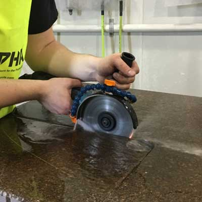 how to cut concrete slabs with an angle grinder