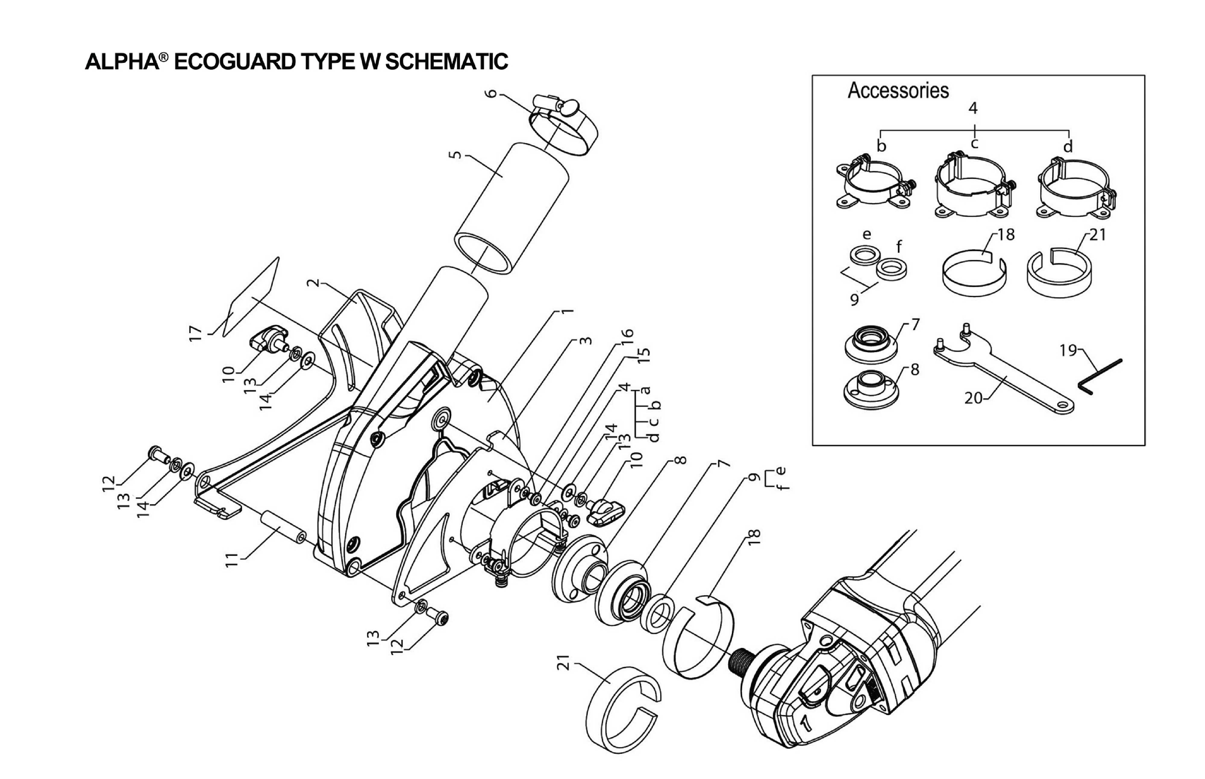 Alpha Professional Tools® :: Ecoguard W Spare Parts