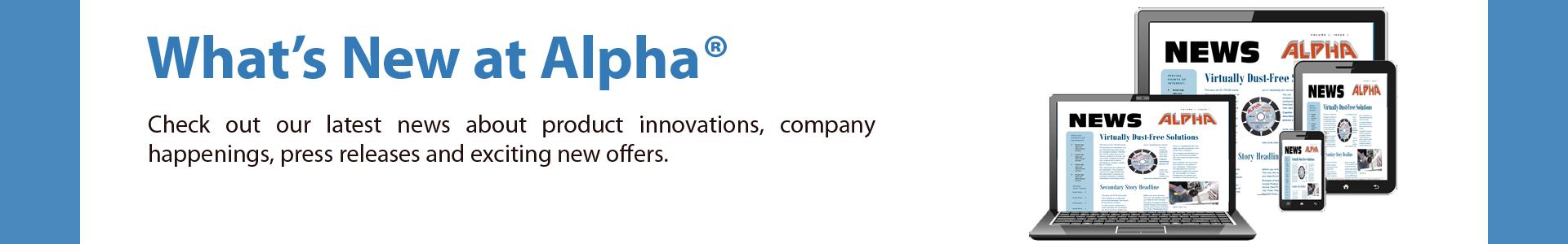Alpha Professional Tools® :: Product Bulletins